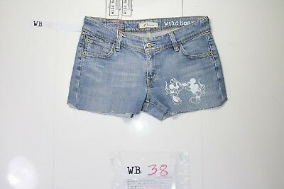 Levis 571 Short Stretch Customized (cod. WB38) jeans Tg.45 W31 DONNA remake