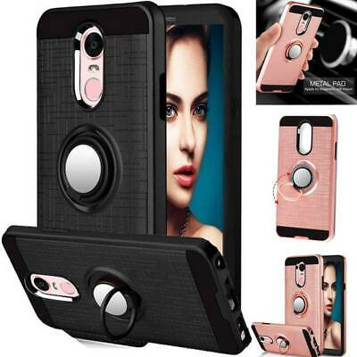 Case For LG Phoenix 4 / Rebel 4 LTE Ring Holder Shockproof Armor Kickstand Cover