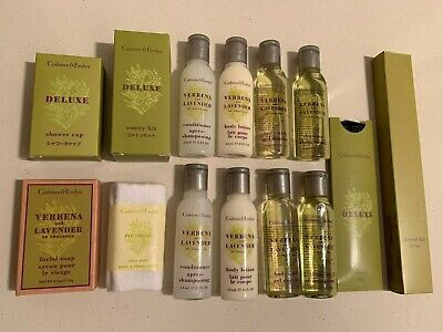 NEW Crabtree & Evelyn - Deluxe Verbena & Lavender toiletries 14-piece travel kit