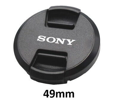 Sony 49mm Snap-On Lens Cap + Rope / Front Lens Cap / Black New Free Ship