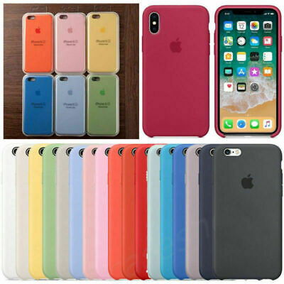 Genuine Ultra Slim Silicone Case Cover for Apple iPhone 8 7 6s Plus X  XS MAX XR
