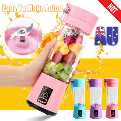 380ML Portable Juice Shaker Blender Bottle  USB Electric Fruit Juicer Maker Gift