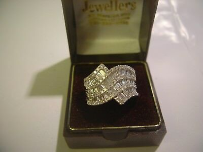 Massive 2 Carat Diamond Ring Solid Thick Heavy 9Ct Gold-Size O-Impressive-10 Gra