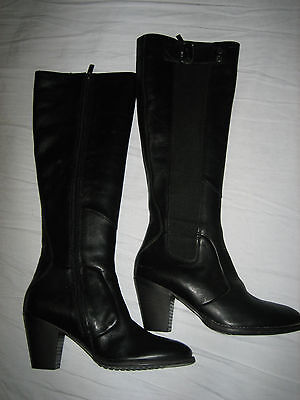 G STAR RAW Womens Brushable Metallic Leather Guard Boots