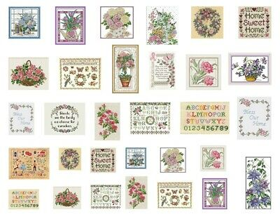 Dollhouse Miniature Fabric Samplers Lot 31 Cross Stitch Embroidery Pictures 1:12