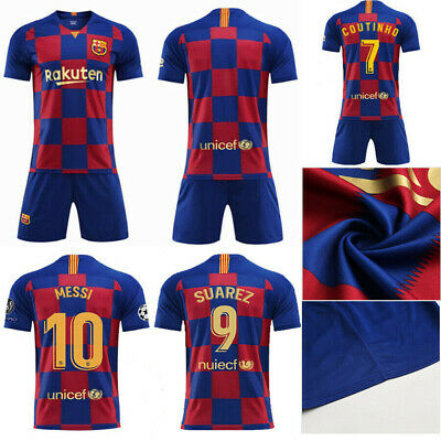 19/20 Football Full Kit Youth Kids Boy Jersey Strips Soccer Outfit Training Suit