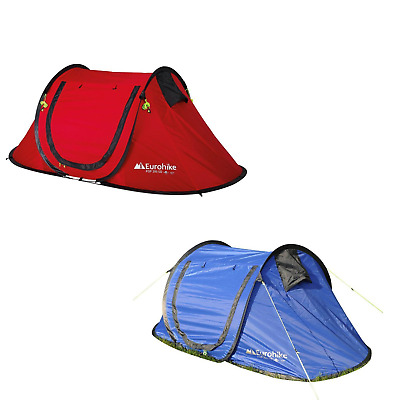 New Eurohike 200 2 Person Quick Pitch Festival Tent Camping Gear
