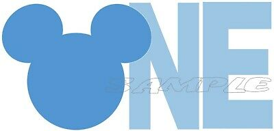 Iron on Transfer - Mickey Mouse - 1st Birthday ONE - T-shirt Transfer