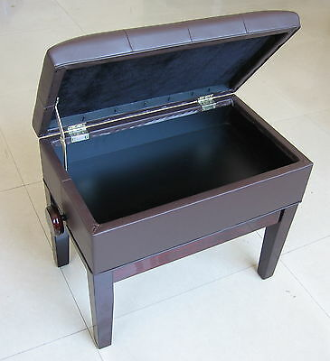 Mahogany Music Storage Adjustable Piano Stools, From  Little & Lampert Pianos