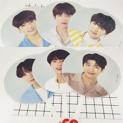 1PC Kpop Bts World Tour ' Love Yourself'Concert Eventail Suga Jimin Gifts Neuf