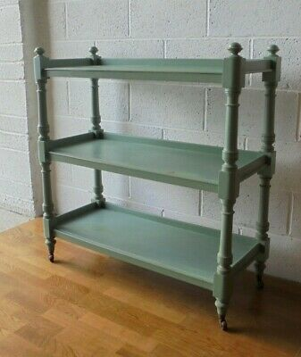 Antique Victorian Painted Shabby Chic Dumb Waiter Shelving Unit Kitchen Shelf