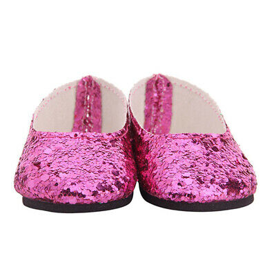 Fashion Slip-on Sequin Shoes for AG American Doll 18inch Doll Dress Accs Gift