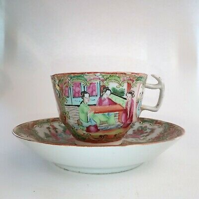Chinese Porcelain porcelain cup and saucer, 19thC