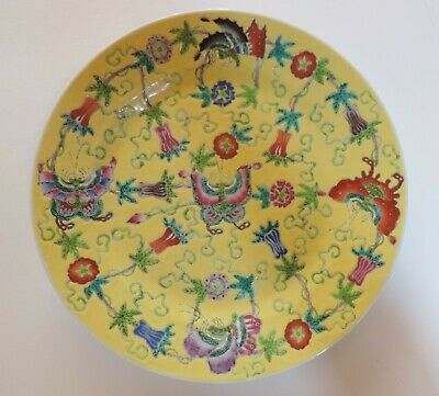 Chinese Porcelain Yellow Plate