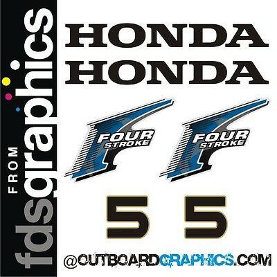 other outputs available Honda 20hp 4 stroke outboard engine decals//sticker kit