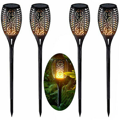 Solar Dancing Flame LED Torch Stake Flickering Outdoor Garden Lights 2 / 4