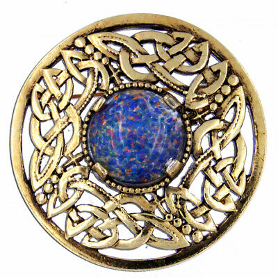 Miracle  Celtic Knot Round Brooch in antique GP Pewter 50% SALE was £22.
