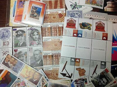Australian Postage Stamps 100 x $1.00 (2- 3 stamps ) Face Value $100 Unused