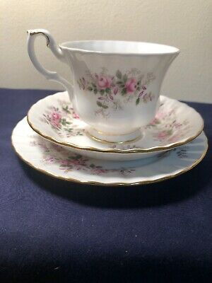 Vintage Royal Albert Lavender Rose Design Tea Cup Trio Made In England