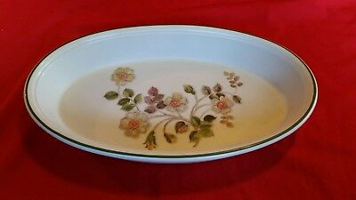 Vintage Autumn Leaves Large Oval Pie Flan Dish 12 inches Marks & Spencer