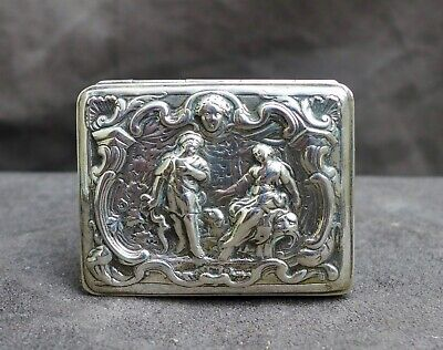 Antique silver snuff box with a classic decor, Italian/France 18th. century