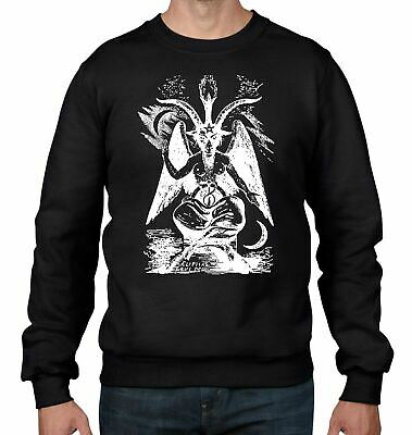 UNISEX SWEATSHIRT BAPHOMET PENTAGRAM SATANTIC GOTHIC CHURCH OF SATAN GOAT XS-7XL