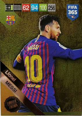 PANINI ADRENALYN XL FIFA 365 2019 UPDATE Lionel MESSI -  LIMITED EDITION CARD