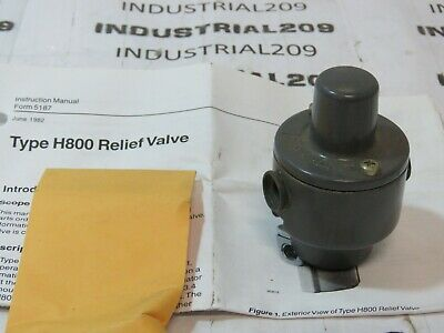 Fisher H800-1 Relief Valve New