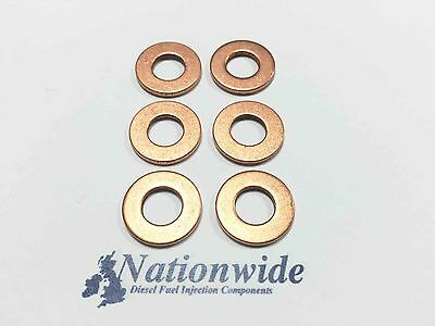 Bosch Common Rail Diesel Injector Washers Seals Pack of 6 F10, F18 BMW 535 D