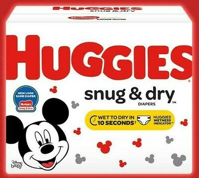 HUGGIES Snug & Dry Baby Diapers Size Newborn 1, 2, 3, 4, 5 & 6 *Free 2 day ship