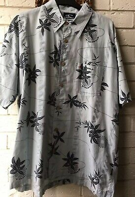 80/90s ONEIL BLUE RETRO HAWAII STYLE SHIRT XLG
