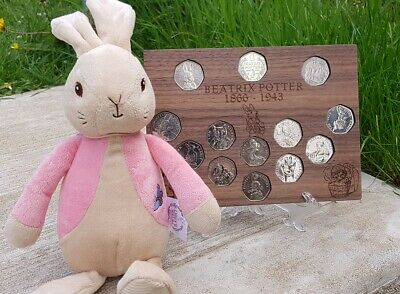 Beatrix potter 50p display case for full 13 peter rabbit Jemima puddle coins