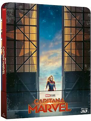 Steelbook CAPTAIN MARVEL (2 BLU-RAY 3D + Blu-ray) Samuel L. Jackson, Lee Pace