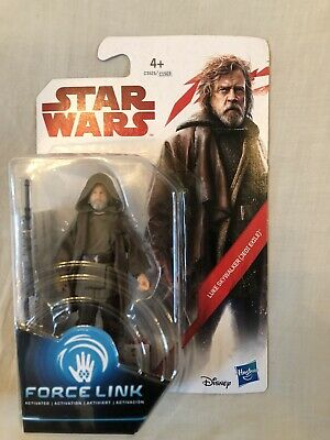 "Star Wars The Last Jedi Luke Skywalker Jedi Exile Force Link 3.75"" Action Figure"