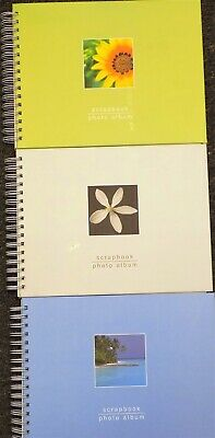 3 Different Piccadilly Scrapbook/Photo Album Spiral-Bound Piccadilly Enterprises