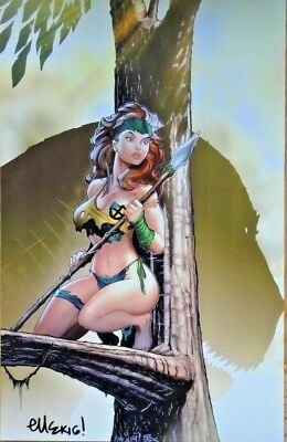 Ed Mcguinness Rogue Savage Land Art Print Signed Poster Marvel X-Men Sdcc Nycc