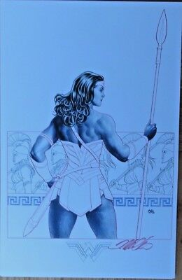 Frank Cho Wonder Woman Art Print Signed Poster Dc Comics Sdcc Nycc