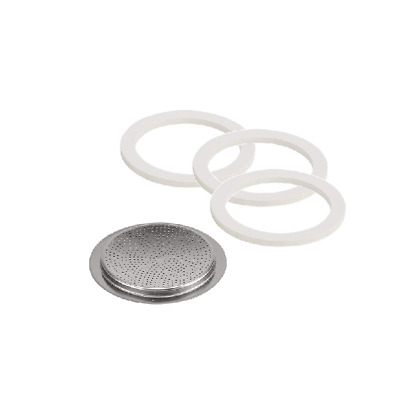 Bialetti Spare Gasket Seals and Filter - 2 Cup Aluminium