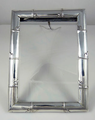 Antique 19thC Chinese Export Silver Bamboo Photo Frame By Sincere & Co