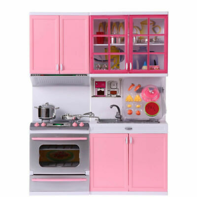 Kids Kitchen Toys Girls Role Play Pretend Set Toy Pink Creative Children's Gift