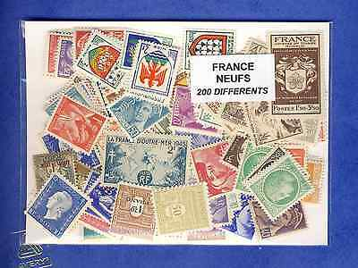 France neufs 200 timbres différents