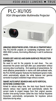⚡ Ultra Bright ⚡ 4500 Lmn Sanyo Projector ..With Brand New Lamp Hdmi Wifi Adapt