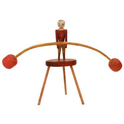 "Antique Folk Art Toy ""Dancing Man"" Balancing Figure c. 1920s - Hand Carved AAFA"