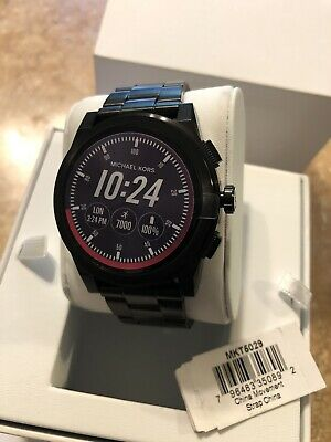 7a8788f4efa3 Michael Kors Access MKT5029 Grayson Black Touchscreen Mens Smartwatch