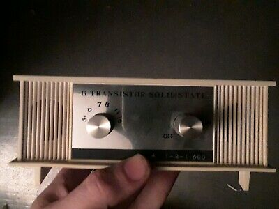 Vintage Solid State 6 Transistor Radio T-R-L 600 Made in Japan