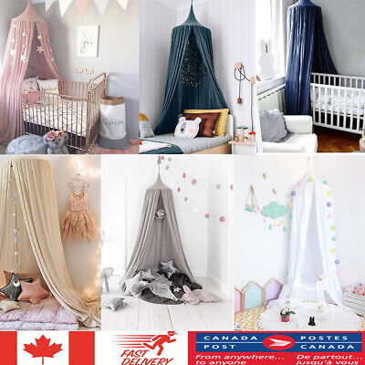 Princess Baby Mosquito Net Bed Canopy Round Dome Tent For Kids Bedroom CA STOCK