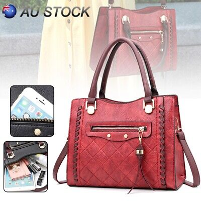 AU Women Fashion Shoulder Bag Handbag Lady Leather Crossbody Casual Travel Bag