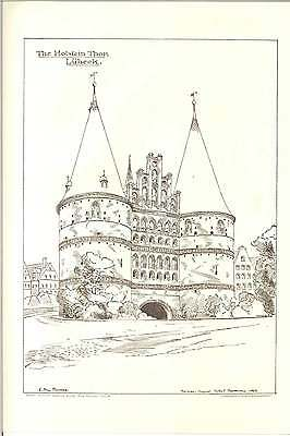 1884 Lubeck The Holstein Thor Eg Dawber Architectural Artwork