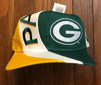 cbd16282 VINTAGE 90S DEADSTOCK Green Bay Packers NFL Snapback Hat Baseball Cap