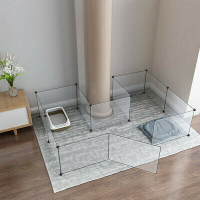 DIY Pet Playpen Portable Indoor & Outdoor Dog Puppy & Cat Large Clear Yard Fence